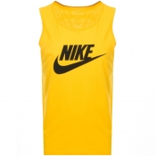 Nike Futura Icon Logo Vest T Shirt Yellow